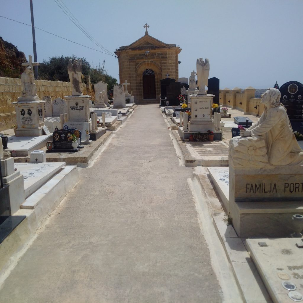 Inside the Xaghra Cemetery