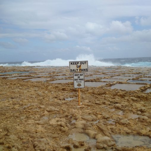 Keep out of salt pans