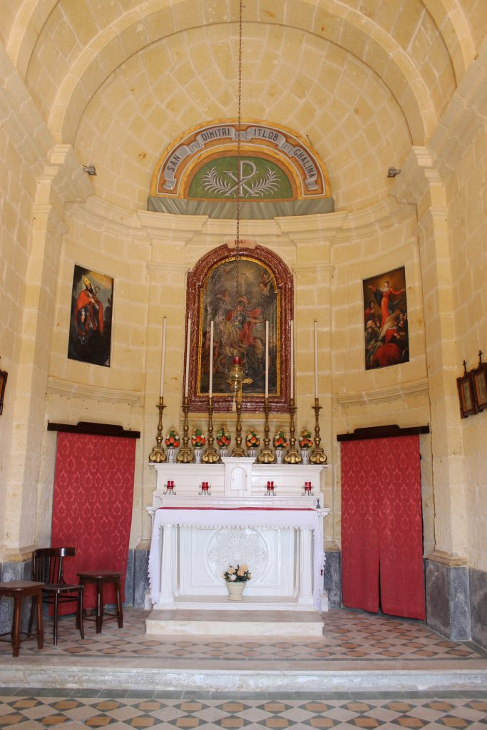 Altar and altarpiece