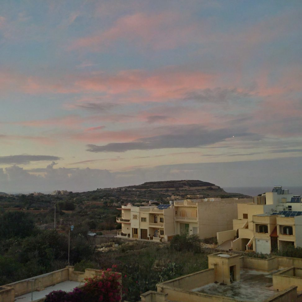 Sunset after rain in Xaghra